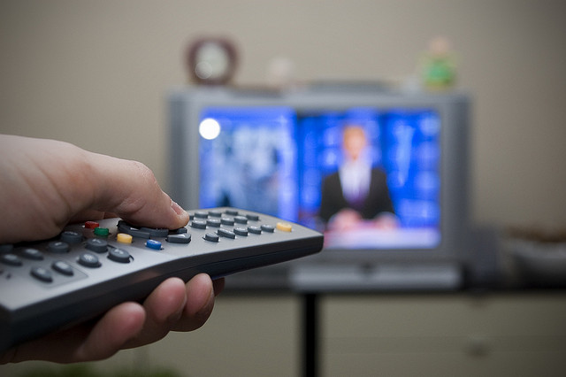 Using remote on television